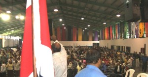 Speaking to more than 3,000 intercessors in Costa Rica