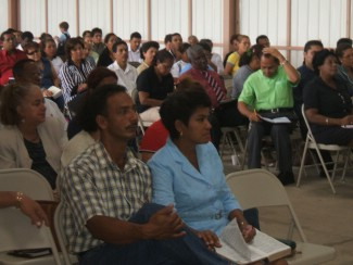 Some of several hundred Panamanian pastors
