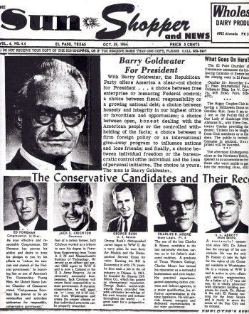 Image of Charles B. Moore (1964), appearing in the Oct 29, 1964 Sun Shopper newpaper with other  Republican candidates.