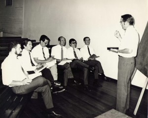 Image of Charles Moore, teaching one of his discipleship teams.